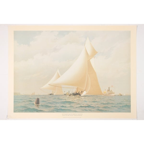 America's Cup 1881 Wall Art Print by Frederick Cozzens 29627189