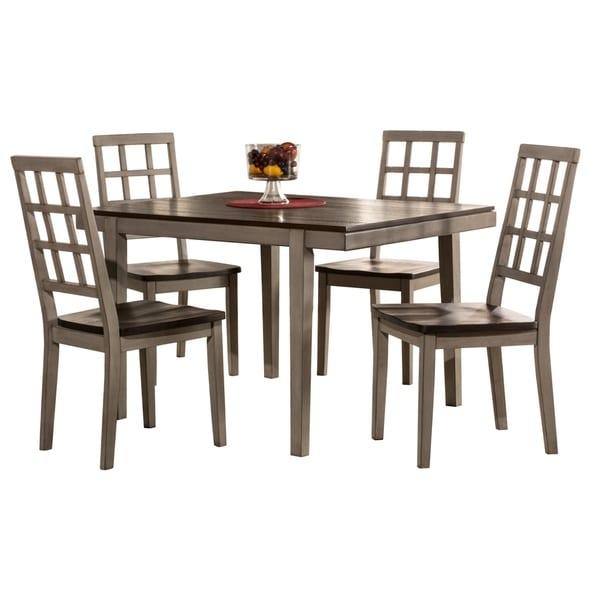 Hillsdale Furniture Garden Park Five Piece Dining Set, Gray