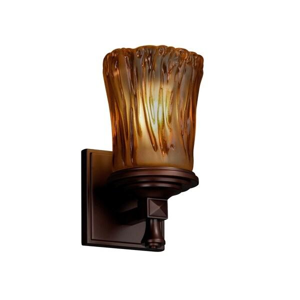 Justice Design Veneto Luce Deco Dark Bronze Wall Sconce 29656098