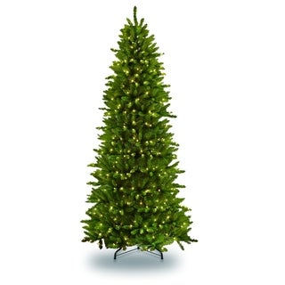 Puleo International 10 ft Pre-lit Slim Fraser Fir Artificial Christmas Tree 900 UL listed Clear Lights