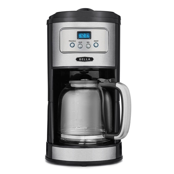 BELLA Classics 12 Cup Programmable Coffee Maker, Bold Brew Stainless and Chrome 29693527
