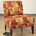 Accent Chair Geometric Red