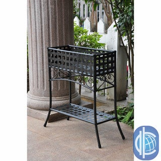 International Caravan Rectangular Iron Plant Stand