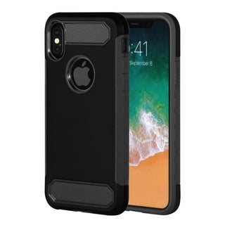 "Insten Dual Layer Hybrid Rubberized Protective Hard PC/ Silicone Case Cover for Apple iPhone XS/iPhone X 5.8"" 5.8-inch"
