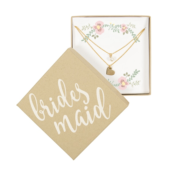 Bridesmaid Gold Double Chain Pearl Necklace 29789886
