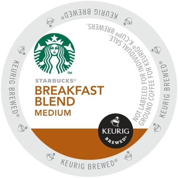 Starbucks Breakfast Blend, K-Cup Portion Pack for Keurig Brewers 29791252