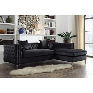 Chic Home Monet Velvet Button-tufted Right-facing Sectional Sofa