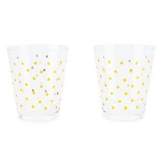 Gold Dots Acrylic Cups (set of 2) 29817608