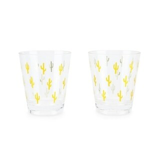 Gold Cactus Acrylic Cups (set of 2) 29817636