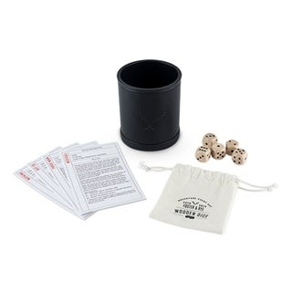 Wood Dice & Faux Leather Dice Cup Drinking Game Set 29817728