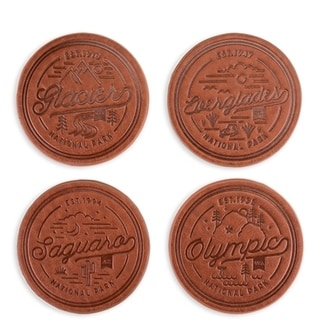 National Park Faux Leather Coaster Set by Foster & Rye 29817782