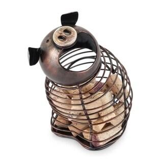 Oink Pig Cork Holder by True 29818261