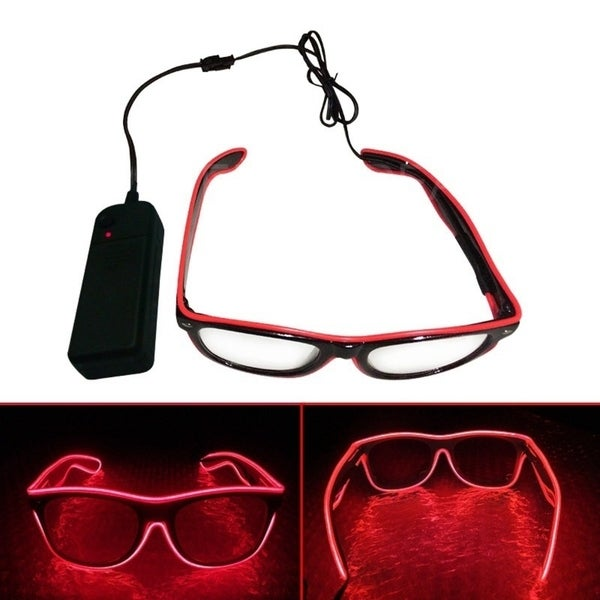 EL Wire Neon LED Light Glow sunglasses for Halloween Costume 29857144