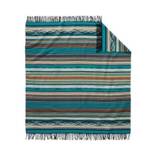 Pendleton Chimayo Fringed throw Turquoise