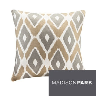 Madison Park Stetsen Diamond Printed 20-inch Throw Pillow