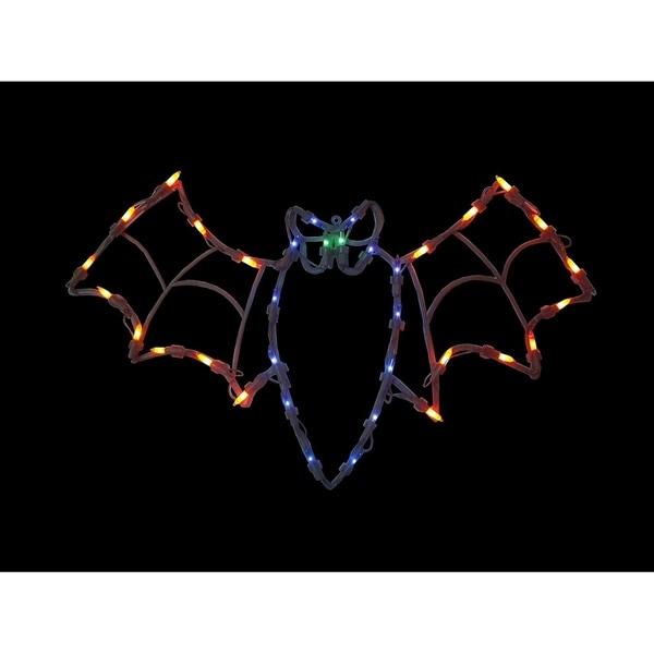 "15"" Lighted Bat Halloween Window Silhouette Decoration 29870555"