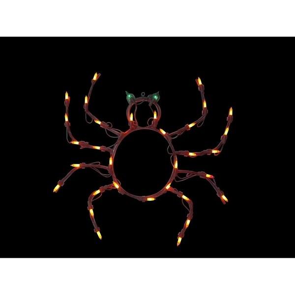 "15"" Lighted Spider Halloween Window Silhouette Decoration 29870687"