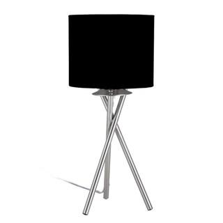 "Euro Style Collection Lisboa Mini 15"" Table Lamp-Black"