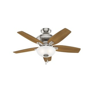 """Hunter 42"""" Kenbridge Ceiling Fan with LED Light Kit and Pull Chain - Brushed Nickel"""