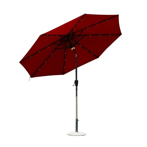 Outsunny 9' Solar LED Market Patio Umbrella w/Bluetooth 29885347