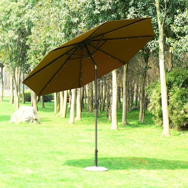 Outsunny 9' Solar Multi-Color LED Market Patio Umbrella 29885349
