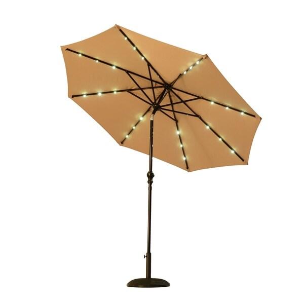 Outsunny 8.5' Solar LED Market Patio Umbrella 29885437