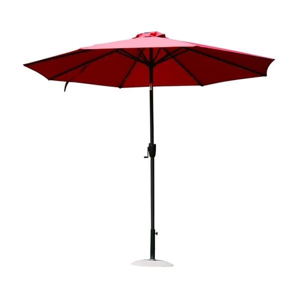 Outsunny 9' Solar Multi-Color LED Market Patio Umbrella 29885441