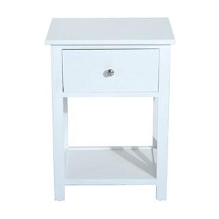 "HomCom X-Side Wood End Table / Nightstand w/ Drawer - 15.5""L X 12""W X 22""H"