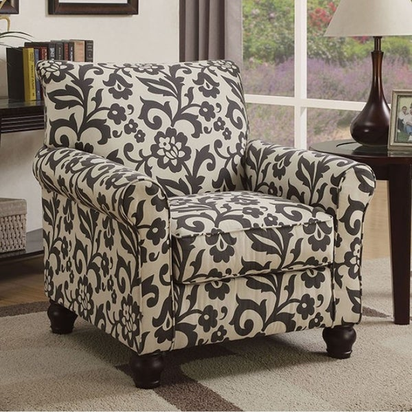 Clea Transitional Accent Chair, Black & White 29893767