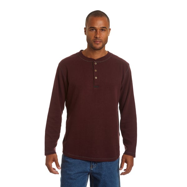Stanley Men's Big and tall Thermal Henley with Underarm Gusset 29906601