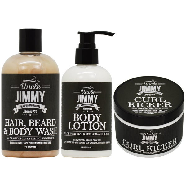 Uncle Jimmy Hair Beard and Body Care 3-piece 29908436