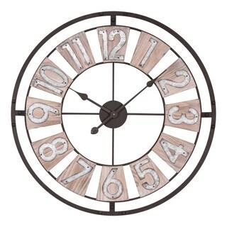 La Crosse Clock 404-4070 27.5 Inch Industrial Decorative Round Quartz Wall Clock
