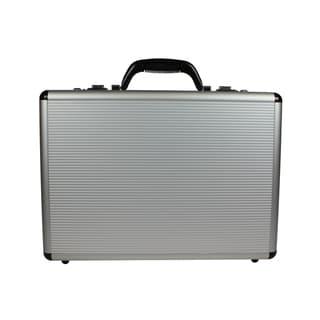 World Traveler Fasano Aluminum Silver 4-inch-wide Attache Briefcase