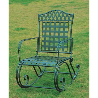 Milano Green Hammered Iron Rocker