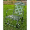 International Caravan Milano Green Hammered Iron Rocker