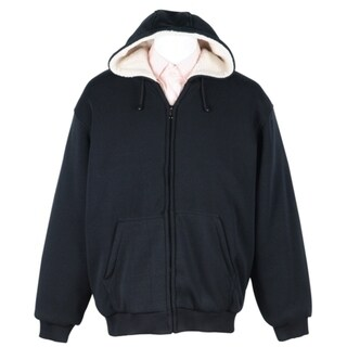 Men's Soft Berber Lined Zip Fleece Hoodie 29935419