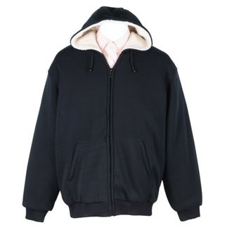 Men's Soft Berber Lined Zip Fleece Hoodie 29935422