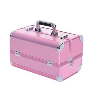 Soozier 14 in. Lockable Professional Makeup Case - PInk 29938354