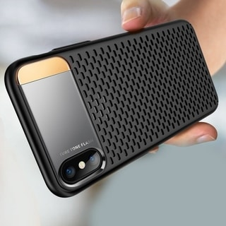 Breathable PC Phone Case Ultra-Thin Shockproof Back Cover with Kickstand for iPhone X