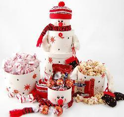 Snowman's Delight Stackable Gift Tower