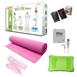 "Nintendo Wii Fit Plus ""Super"" Bundle - Pink"