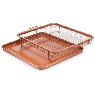 Gotham Steel XXL Crisper Tray and Baking Sheet Non-stick Copper