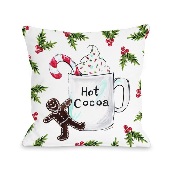 Hot Cocoa - Multi  Throw 16 or 18 Inch Throw Pillow by Timree Gold 29977141