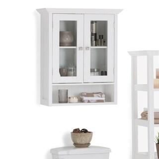 WYNDENHALL Normandy 28 inch H x 23.6 inch W Double Door Wall Bath Cabinet