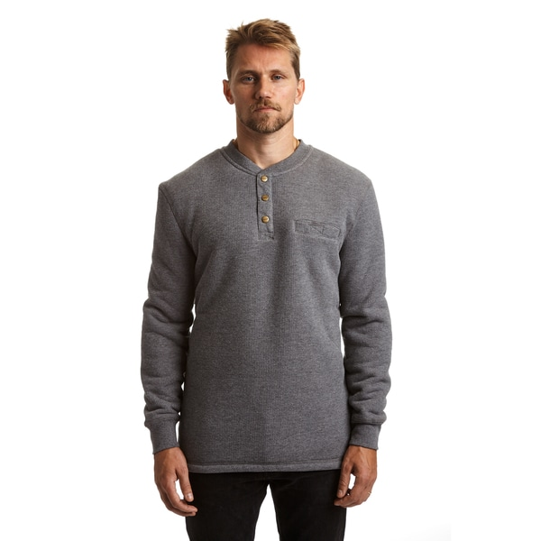 Stanley Men's Big and Tall Sherpa Lined Henley Thermal 29984096