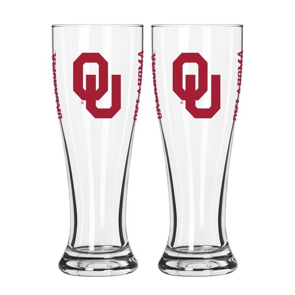 Oklahoma Sooners NCAA 2-Pack Gameday Pilsner Set 29986934