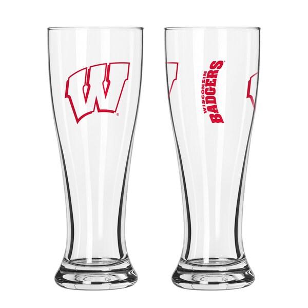 Wisconsin Badgers NCAA 2-Pack Gameday Pilsner Set 29986942