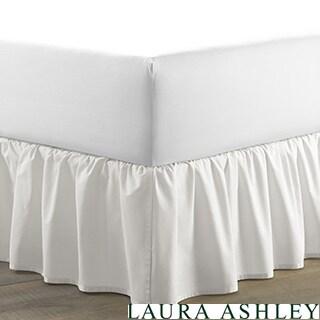 Laura Ashley White Ruffled Bedskirt
