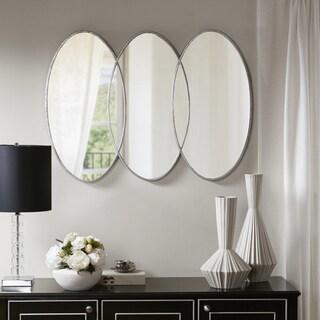"""Madison Park Signature Eclipse Antique Silver Metal Frame Decor Mirror - Antique Silver - 30""""w x 1.77""""d x 40""""h"""