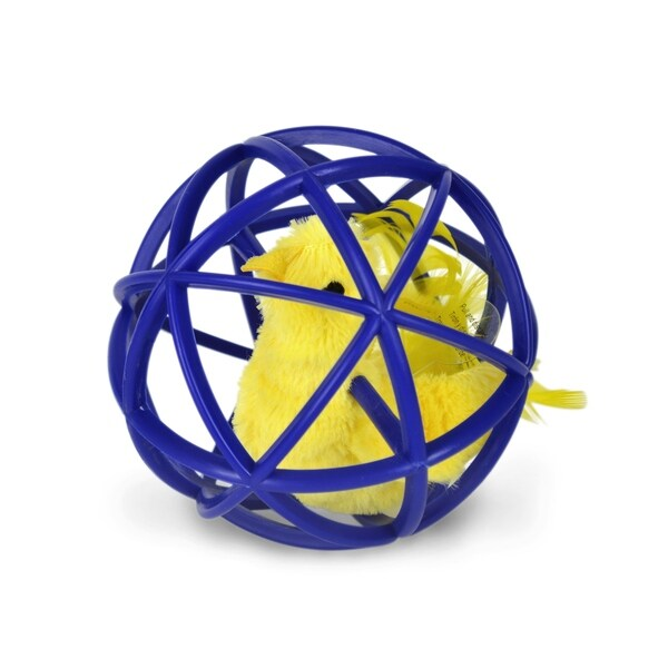 OurPets Ball of Feathery Fury Interactive Cat Toy 29998205